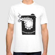Zombie Hoodlum MEDIUM White Mens Fitted Tee