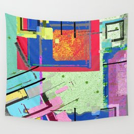 Superfly Muses No. 3 Contemporary Abstract Retro Wall Tapestry