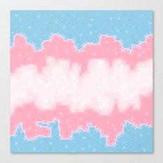 Trans Pride Flag Galaxy Canvas Print