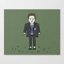 Sad Mulder in a Field Canvas Print