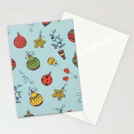 Christmas Toys Pattern Stationery Cards
