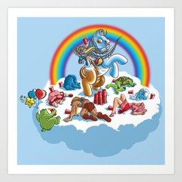 My Little Pony Keg Art Print