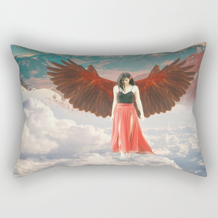 Lady of the Clouds Rectangular Pillow