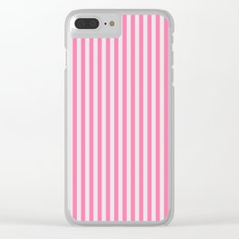 Narrow Vertical Stripes (Pink/Grey): classic stripes in pretty colors for a fresh clean look Clear iPhone Case