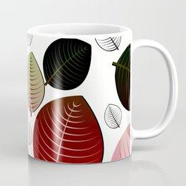 Bold Leaf Design Coffee Mug