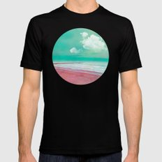 SILENT BEACH SMALL Black Mens Fitted Tee
