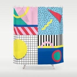 Memphis Party Shower Curtain
