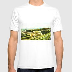 A warm city. White MEDIUM Mens Fitted Tee