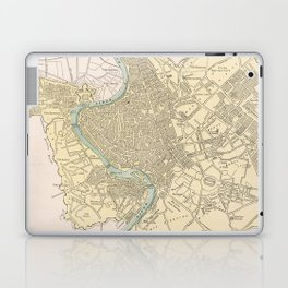 Vintage Map of Rome Italy (1901) Laptop & iPad Skin