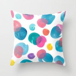 Colour mixing splotches Throw Pillow