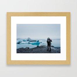 ALIENS IN ICELAND // Framed Art Print