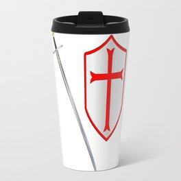 Crusaders Sword and Shield Travel Mug