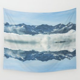 Mirrored landscape 3 pyrenees Wall Tapestry