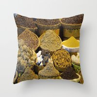 egyptian Throw Pillows featuring Egyptian Spices by Brian Raggatt