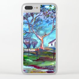 Blanco Texas Ranch House Clear iPhone Case