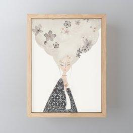 HAIR IN THE CLOUDS Framed Mini Art Print