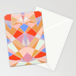 Flat Geometric no.35 Shapes and Layers Stationery Cards