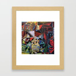 A roughly vectorised and reworked Picasso Framed Art Print