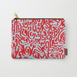 Blue red Carry-All Pouch