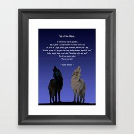 Tale of Two Wolves Framed Art Print