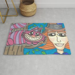 Cheshire and Hatter Rug