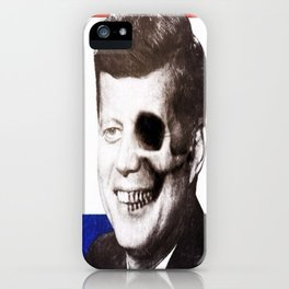 JFK SKULL PORTRAIT iPhone Case