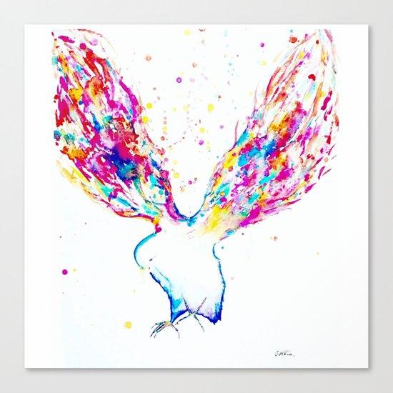 Rainbow Wings Canvas Print