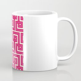 Greek Key - Pink Coffee Mug