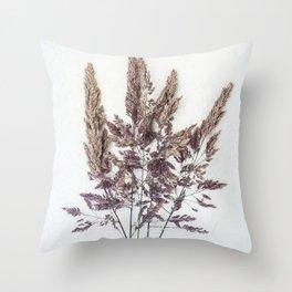 Velvet Grass Throw Pillow