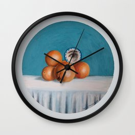 the orange girl Wall Clock