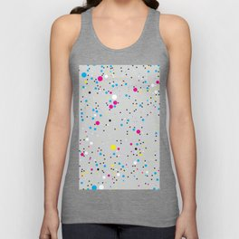 Chaotic circles pattern. Confetti #3 Unisex Tank Top