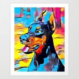 Doberman 5 Art Print