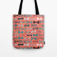 Bow tie geek in pink Tote Bag