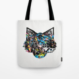 The Creative Cat (color varient) Tote Bag