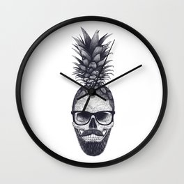 Tropical skull Wall Clock