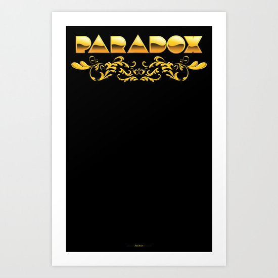 Golden Paradox Art Print