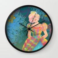 teacher Wall Clocks featuring Juliana by Ind Alonso