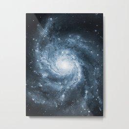 Pinwheel Galaxy Yang Blue Metal Print