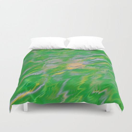 Pearl Green Water Duvet Cover