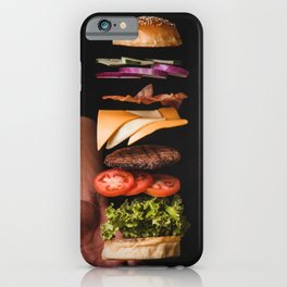 Burger Time Lapse iPhone Case