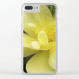 October Rose Clear iPhone Case