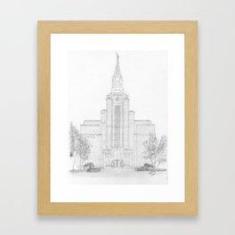 Boston Massachusetts LDS Temple Framed Art Print