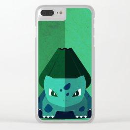 Minimalistic Bulba Poke Clear iPhone Case