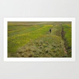 Peruvian Farmer Art Print