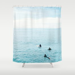 Flat Ocean Shower Curtain