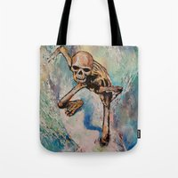 surfer Tote Bags featuring Surfer by Michael Creese