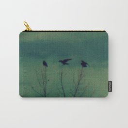 Ravens Come Gathering in a Soft Turquoise Sky Carry-All Pouch