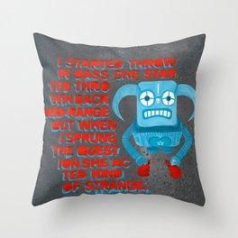 553. Throwing Bass 2 Throw Pillow