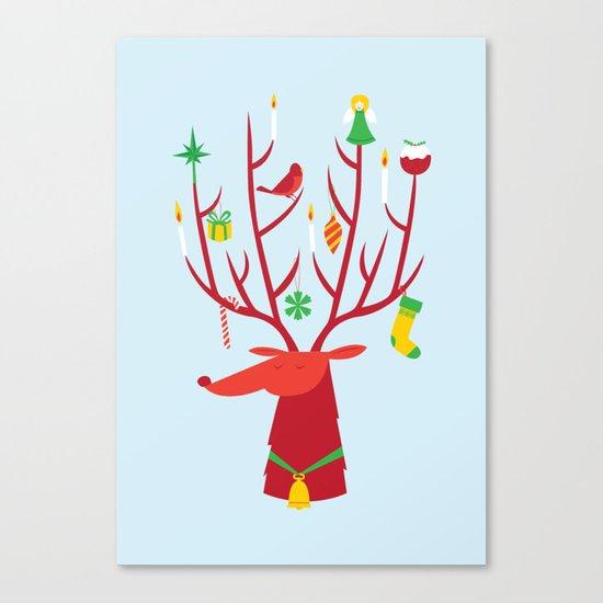 Reindeer (Blue version) Canvas Print