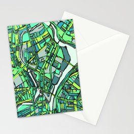 Abstract Map- Lowell MA Stationery Cards